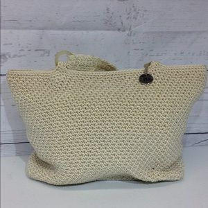 The Sak Crocheted Shoulderbag Handbag Cream